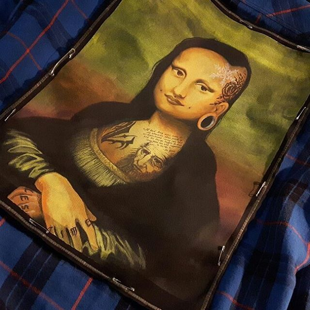 Alternative Mona Lisa backpatch by @fauvebcreations