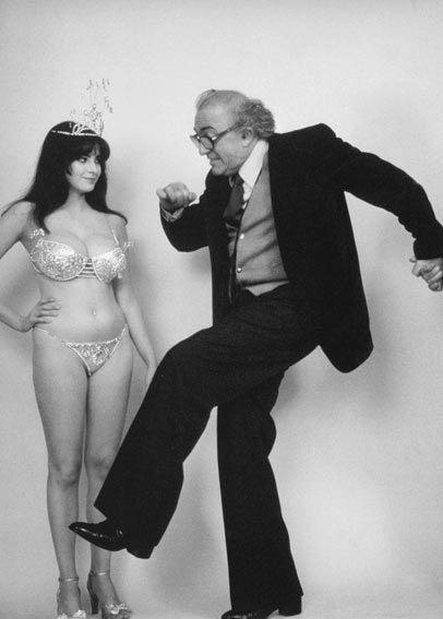 Federico Fellini & Donatella Damiani on the set of La città delle donne,1980
