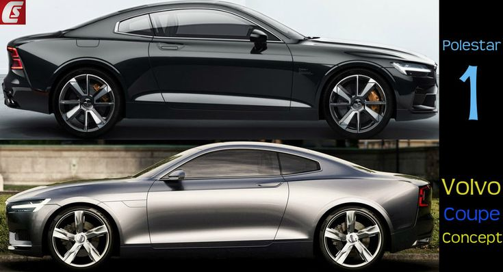 We compare the visuals between the new Polestar 1 and the Volvo Coupe Concept.