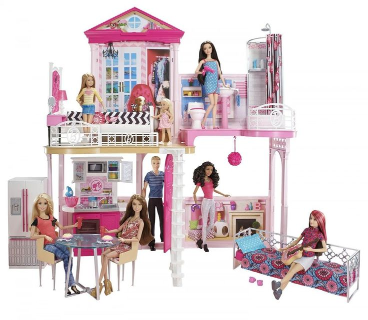 Barbie Ultimate Glam Vacation Beach Dream House Play Set Funny Girl Dolls Game