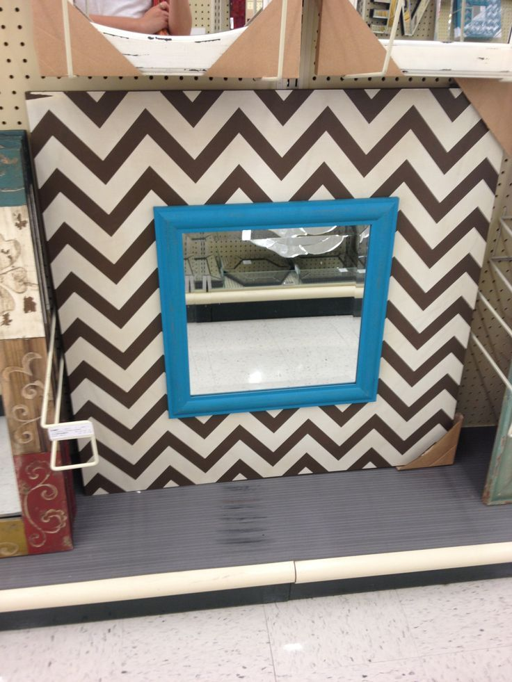hobby lobby mirrors | Love chevron mirror $50 hobby lobby | DIY | Pinterest