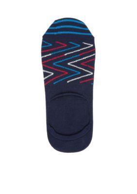 Happy Socks NavyRedWhite Zig Zag Liner Socks-Single Pair
