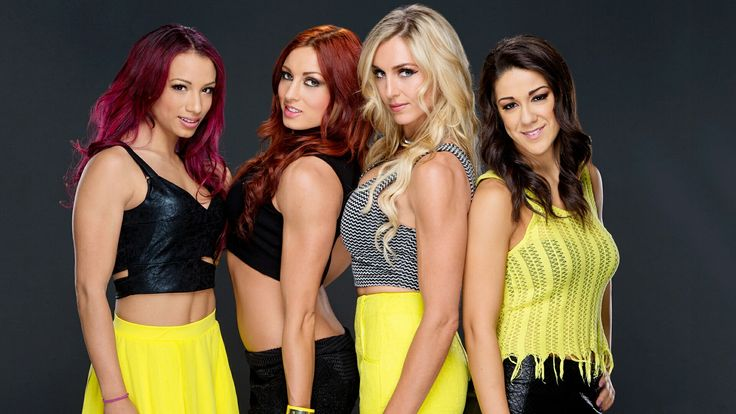 FourHorsewomen. Sasha, Becky, Charlotte, Bayley Dick27Ambrose