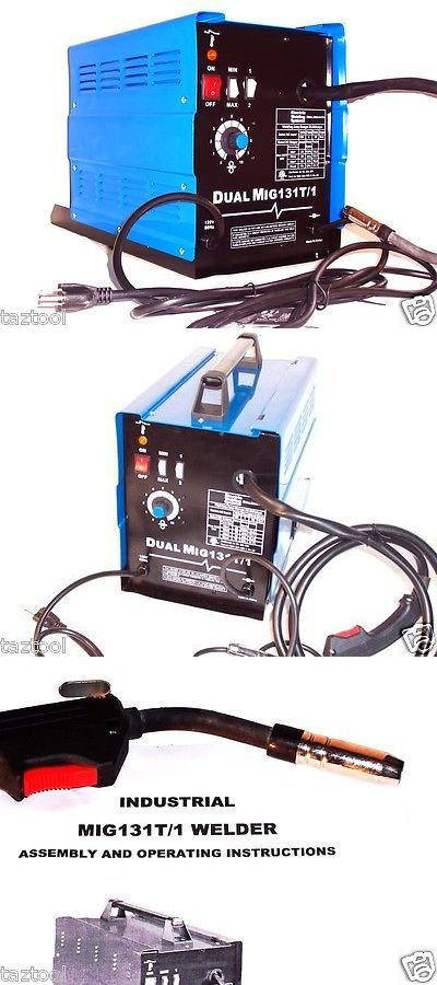 Welding and Soldering Tools 46413: Electric Flux Wire Welder Dual Mig 131 T1 Gas And No Gas Welding Kit -> BUY IT NOW ONLY: $218.49 on eBay!
