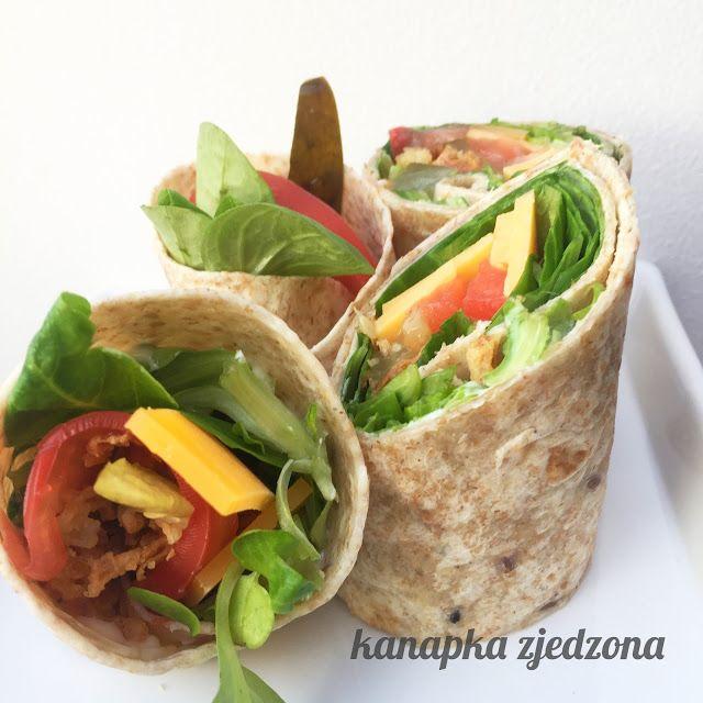 kanapka zjedzona: Pełnoziarniste wrapy z cheddarem