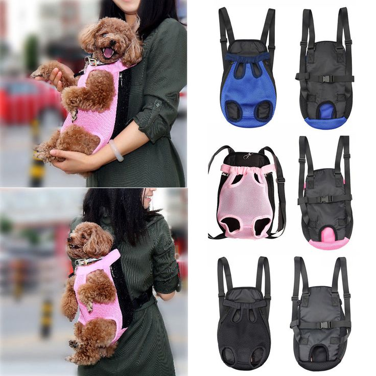 Dog Cat Nylon Mesh Pet Puppy Carrier Backpack Front Tote Carrier Net Bag USA #Unbranded