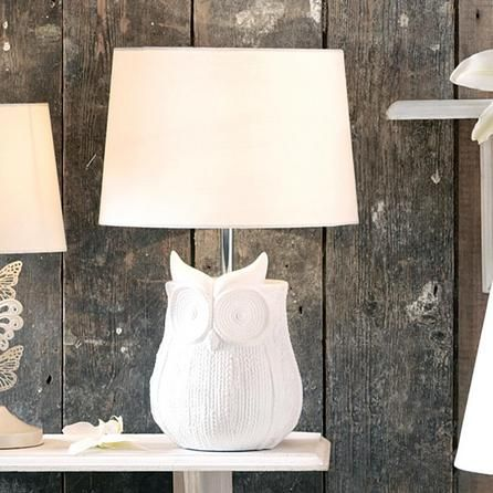 Owl Woven Textured Table Lamp #Dunelm #Decor #Home #Birds