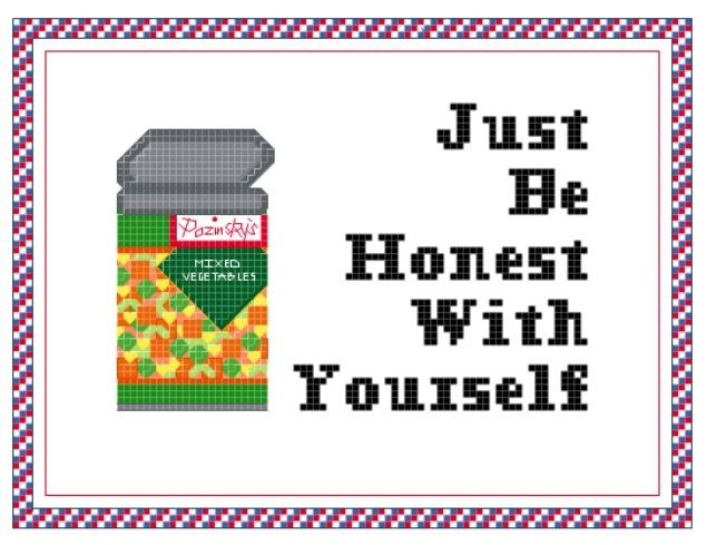 WHAS Honest Cross Stitch Pattern by OhSewPopular on Etsy