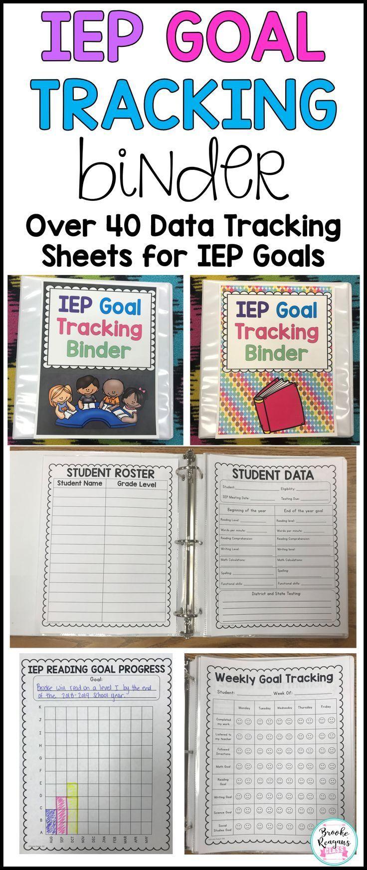 IEP Goal Tracking Binder – data collection for special education #binder #data registration #sonderpadagogik #tracking,