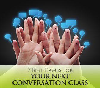 Games for Conversation Classes - Might be interesting for my ESL teacher friend. :)    http://busyteacher.org/13611-7-best-games-for-conversation-class.html