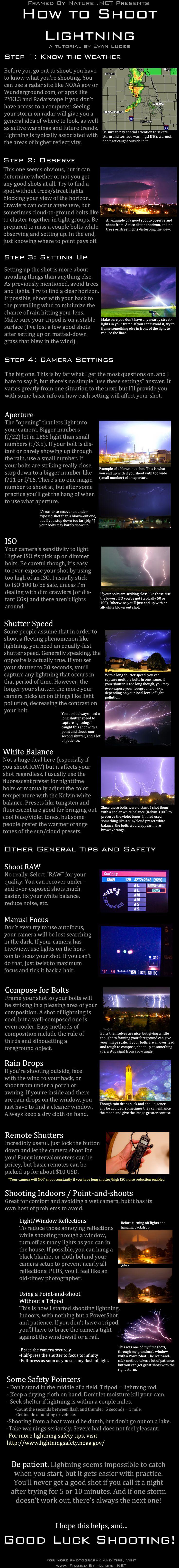 Lightning Photography Tutorial by FramedByNature.deviantart.com on @deviantART