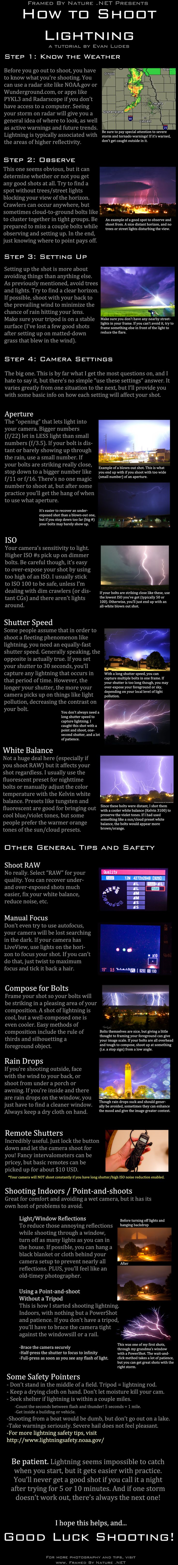 Lightning Photography Tutorial by FramedByNature.deviantart.com on @deviantART