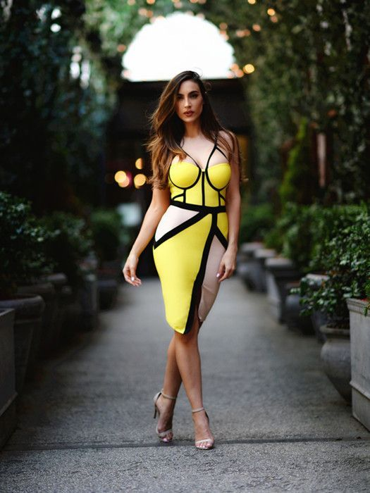 New Fashion White,Nude and Black Bustier Slim Sexy Women Bodycon Bandage Dress .  Price: $47.34