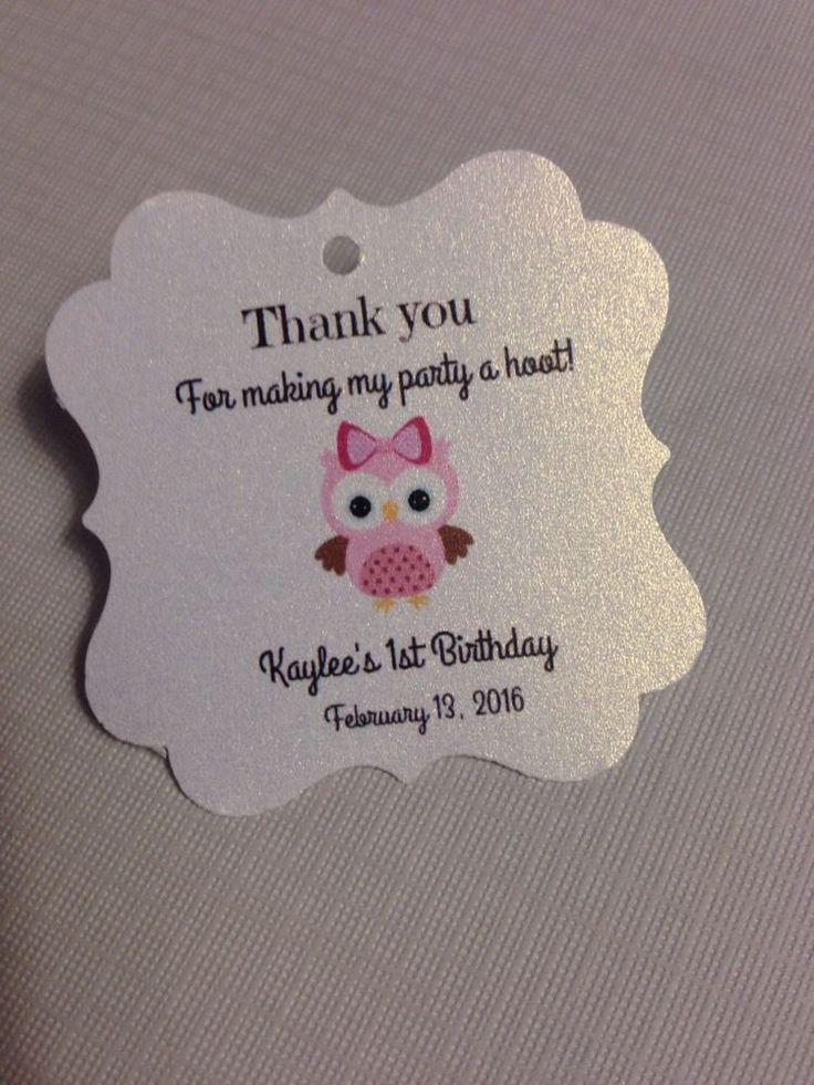 20 Owl Themed Favor Tag Birthday Favor Baby Shower Tag Owl Personalized | eBay