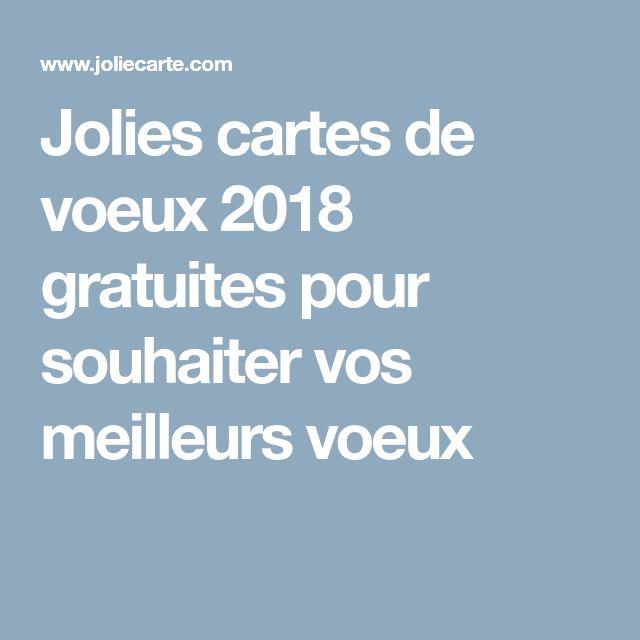 Jolies cartes de voeux 2018 gratuites pour souhaiter vos meilleurs voeux