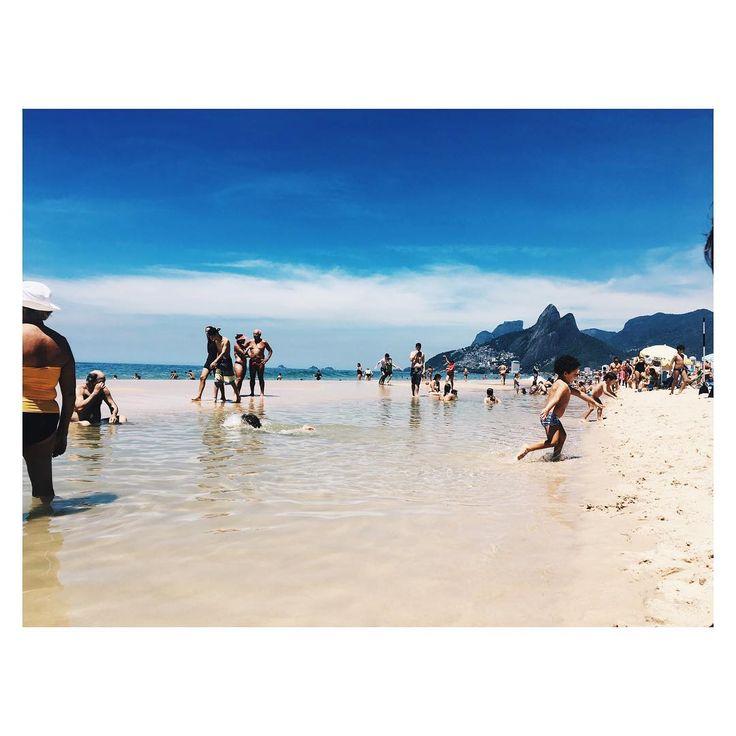 Ipanema beach a lovely day relaxing swimming rio de janeiro brazil travel explore traveling around the world travel blog Worldstoryliving.com Dois Irmãos