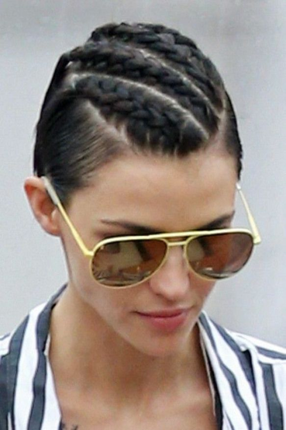 Ruby Rose Clothes Outfits Steal Her Style Rose Ruby Rose Braids For Short Hair Short Hair Styles Ruby Rose Hair