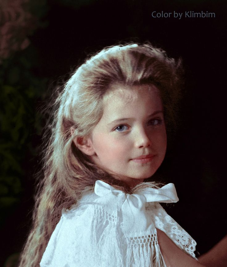 colorized photo of marie romanov as a child - Google Search