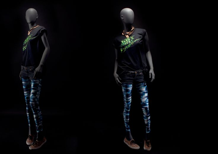 LOFT stands for youth, independence and freedom #FemaleMannequins #deepblack #metalaccesories #camouflage