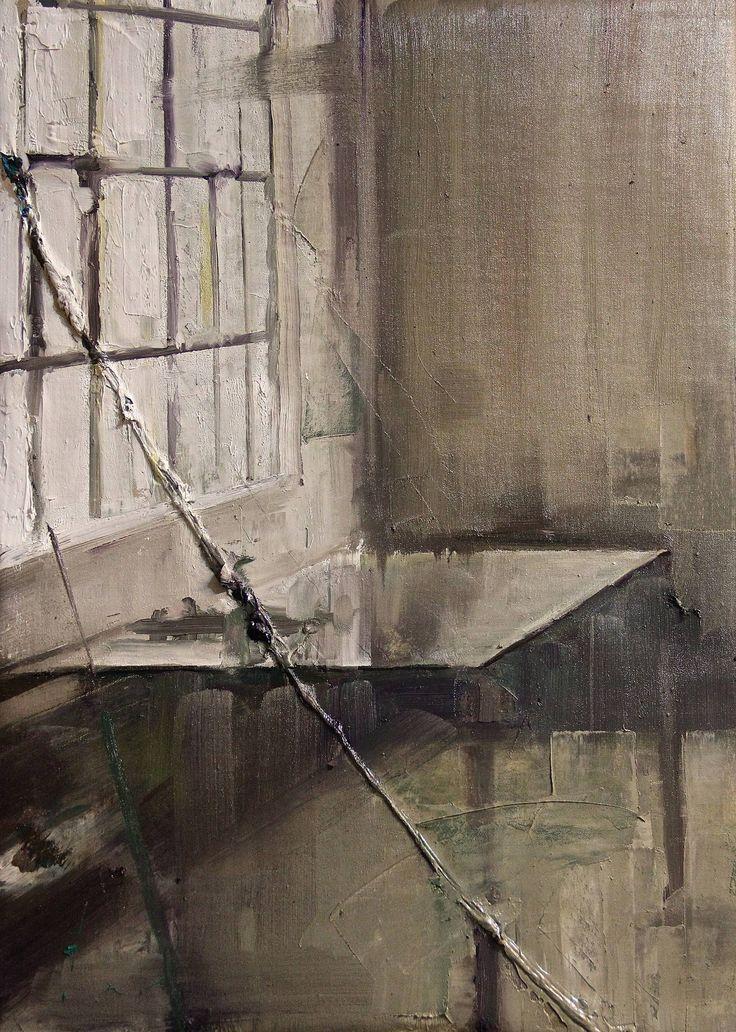 "Saatchi Art Artist: Fanny Nushka Moreaux; oil 2014 Painting ""Glass Wall, 2014"""