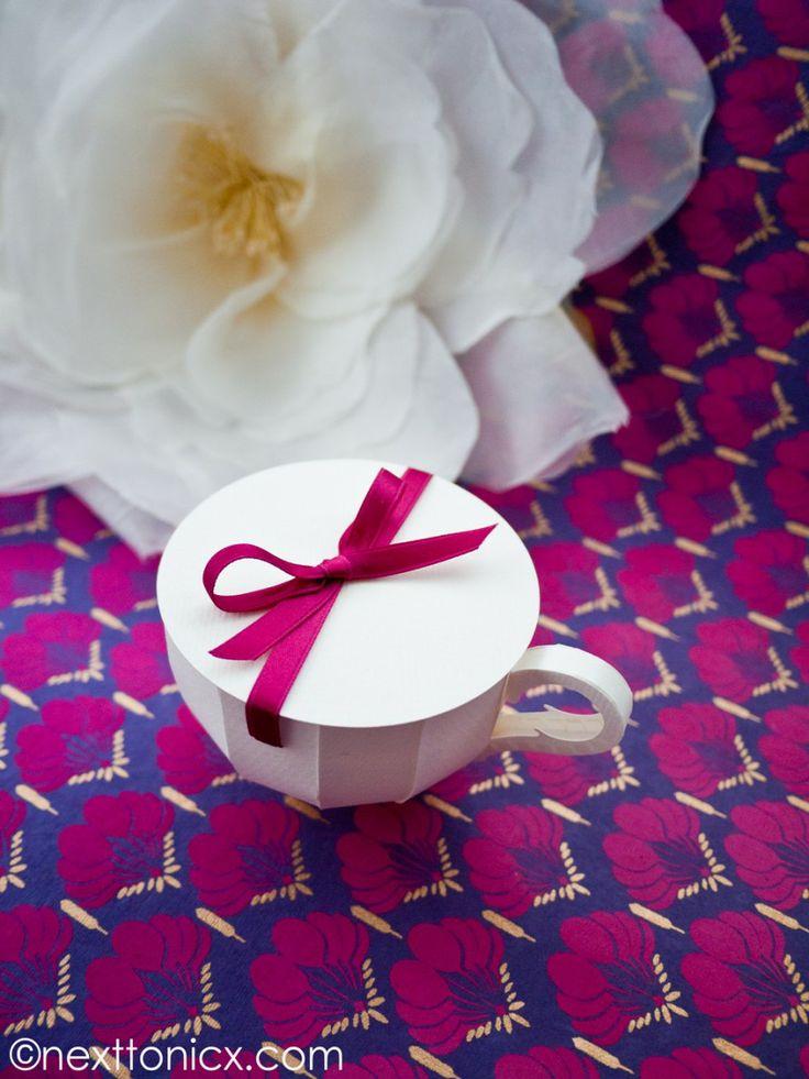 Papel Tea Cup # 1 Insira Lid