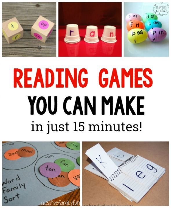 reading games you can make in just 15 minutes- so many great ideas for the classroom!