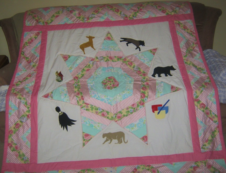 Quilt Cherokee Seven Point Star With The Seven Clans