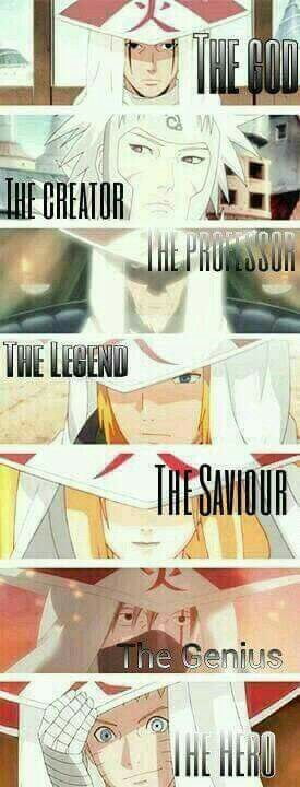 Naruto shippuden heroes, konoha I think minato should be the saviour cus he saved konoha from the kyuubi and tsunade the legend because she was a part of the legendary sannin and the only female hokage
