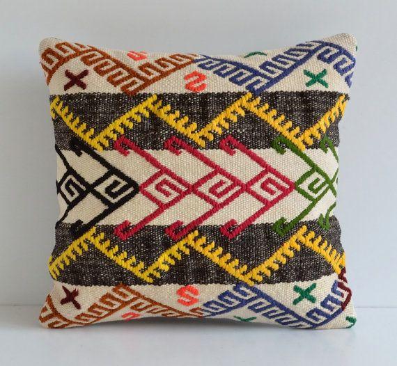 Kilim Pillows  Ethnic Home Decor Cushion Cover  by pillowme, $49.00