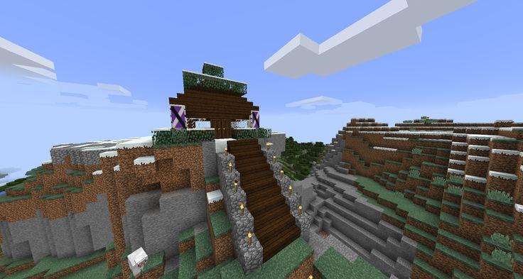 Minecraft Mountain Top House