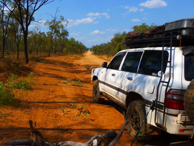 Going off Road with Off Road Adventure Tours, at Cape York.  www.tourcapeyork.com.au