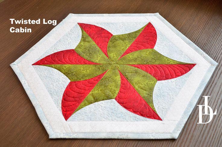 #twisted #logcabin #patchwork #tutorial #quilting #patchworkovévzory #šablony #pravítka