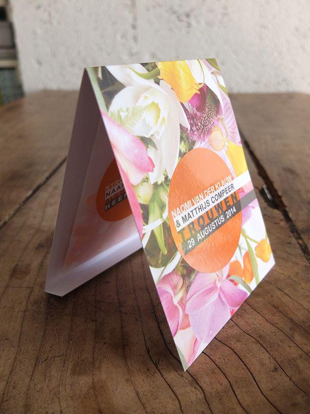 Trouwkaart, ontwerp door hestervanderkaart.nl