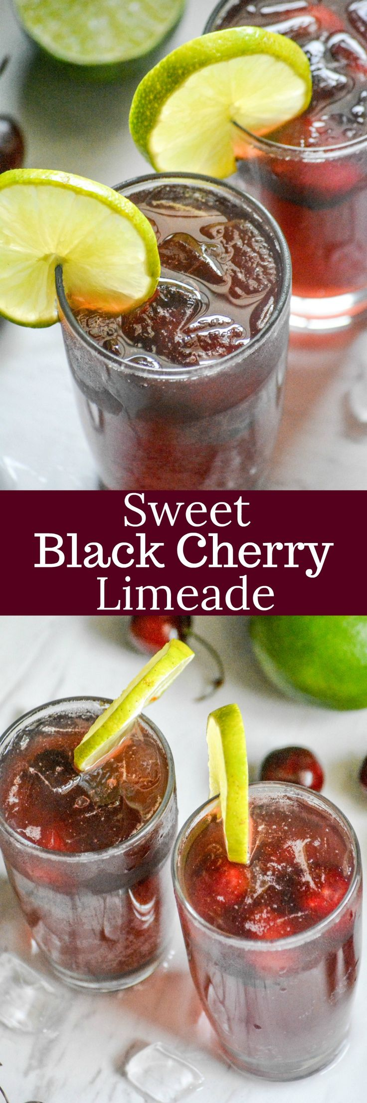 Beat the heat with a refreshing drink that was made for Summer sippin'. This Sweet Black Cherry Limeade is fizzy fun with the perfect blend of sweet cherries with a hint of lime.
