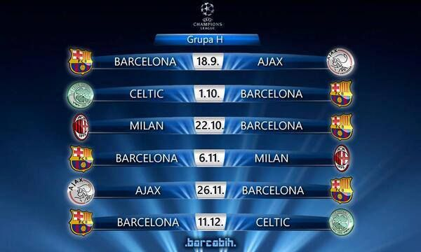 Group H Uefa Champions League Calendar