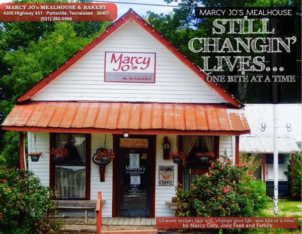 It's finally here. The second cookbook from MarcyJo's Mealhouse and Bakery. There are 52 more recipes that are Still Changing Lives...One Bite at a Time.