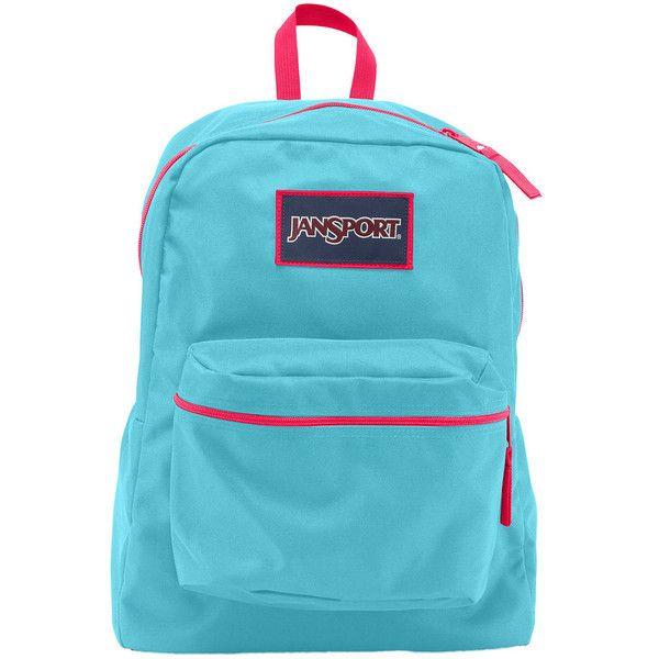 Jansport Over Exposed Backpack ($36) ❤ liked on Polyvore featuring bags, backpacks, blue backpack, pocket backpack, jansport backpacks, zip backpack and utility backpack