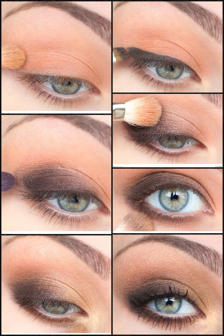Brown eye makeup tutorial | Senior Banquet Hair ...