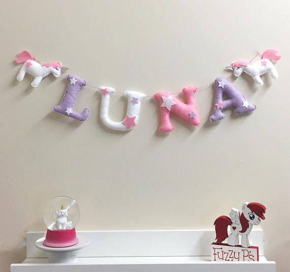 Personalised Unicorn Name Bunting