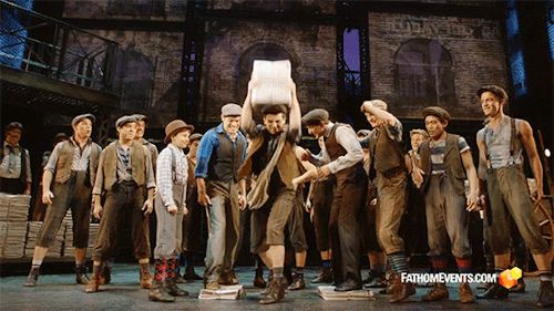 I loved being able to see Newsies two more times after seeing it on tour. I loved seeing the og Newsies and the toursies casts collide.