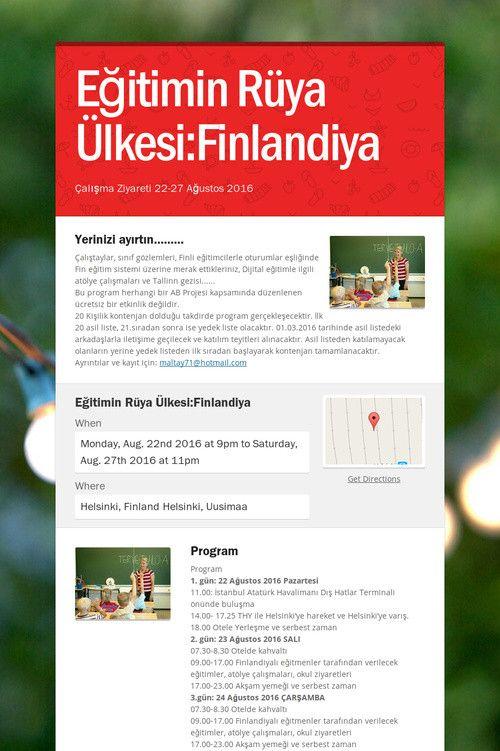 Eğitimin Rüya Ülkesi:Finlandiya