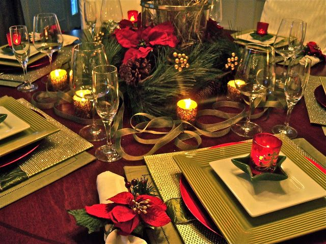Via south shore decorating blog home goods holiday tables red green gold 38 christmas Home goods decor pinterest