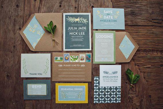 Sea Breezy Wedding invitation Suite Deposit by yoursistheearthshop, $250.00 (Packaging)