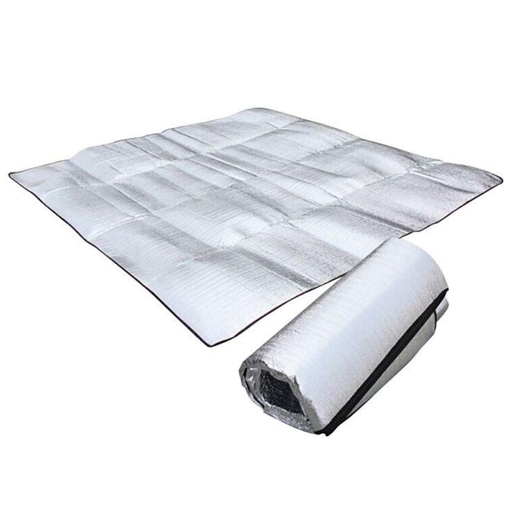 Portable Pliable de Couchage Matelas de Camping En Plein Air de Pique-Nique Plage Tapis Pad Étanche En Aluminium Feuille EVA Gonflable Tapete Chaude