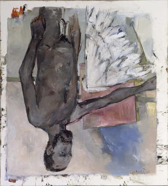 Georg Baselitz, Fingermalerei - schwarzer Akt, 1973
