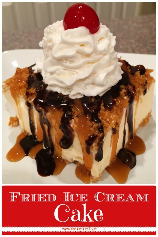 Traditional Mexican Fried Ice Cream only in a cake without the frying! This is an amazingly easy dessert to prepare and SUPER Yummy! A family favorite!