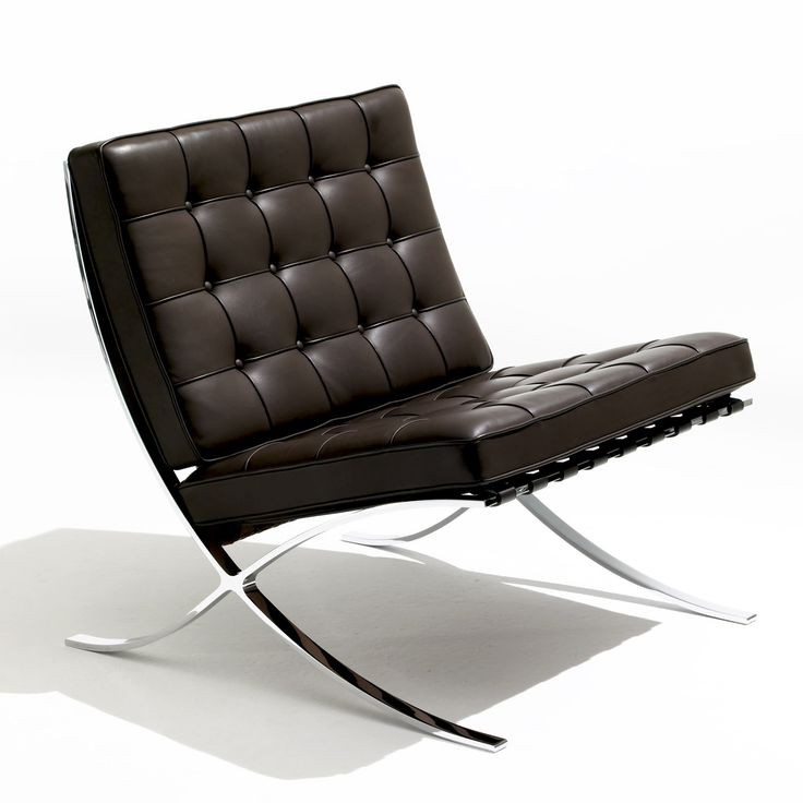 Do I love my Barcelona chair or what. Ludwig Mies van der Rohe's design classic from 1929.