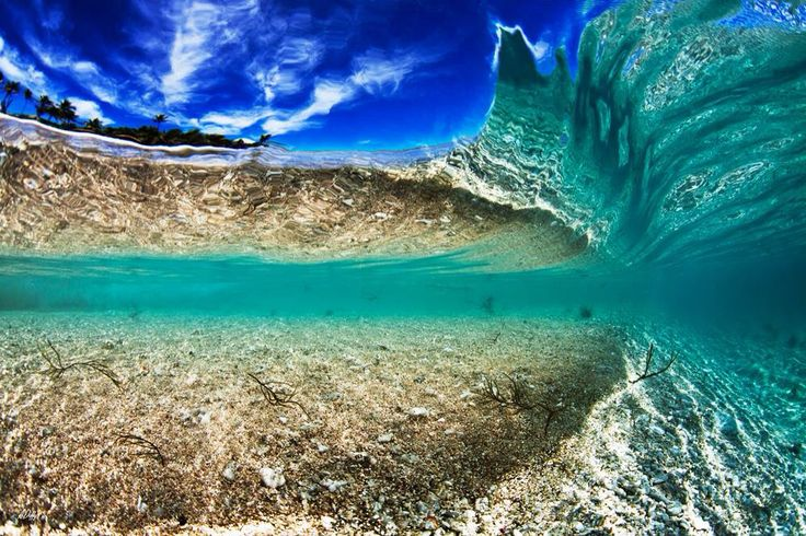 Under a forming wave