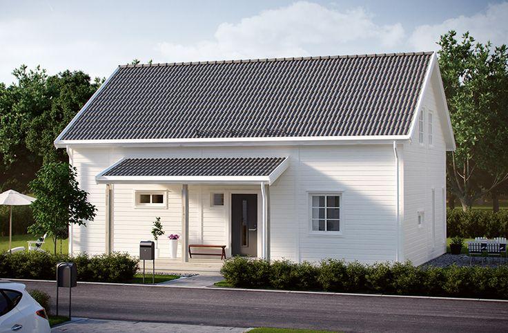 Villa Vimmerby är ett hus med förhöjt väggliv om 140,6 m2. Entrévåningen har en rymlig hall med möjlighet till mycket praktisk förvaring, klassiskt kök och ett stort vardagsrum som har plats för både matplats och soffgrupp. När du inreder övervåningen får du lätt plats med två barnsovrum, allrum och ett stort föräldrasovrum. Tack vare det förhöjda vägglivet får övervåningen större golvyta och högre takhöjd. #smålandsvillan #villavimmerby #hus #bygganytt #nybyggnation #inspiration…