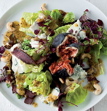 Biltong, gorgonzola and fig salad [ NYBiltong.com ] #biltong #recipe #flavor